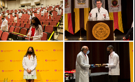 CMSRU welcomes new med students at pandemic-era White Coat Ceremony